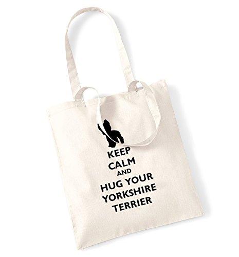 Keep calm and hug La borsa di yorkshire terrier natur