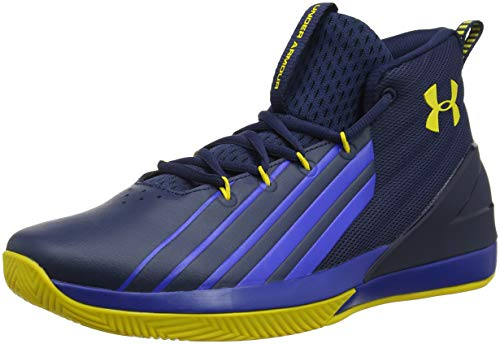Under Armour UA Lockdown 3, Scarpe da Basket Uomo, Blu (Academy/Royal/Taxi), 44 EU