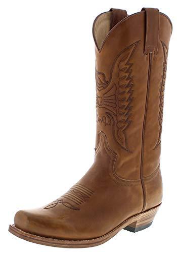 Sendra Boots Herren Cowboy Stiefel 2073 Bronson Braun 40 EU