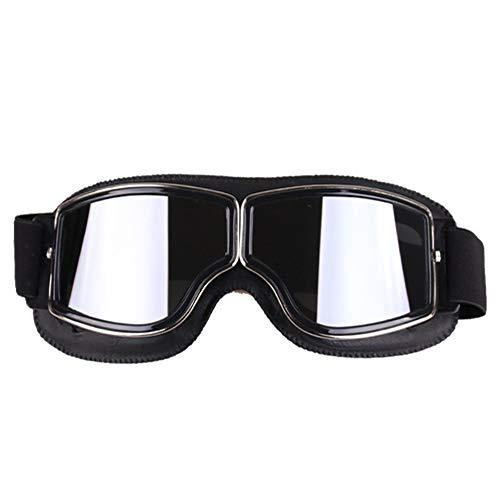 Easy Go Shopping Cross-Country-Brille Retro-Outdoor-Sportbrillen Harley-Brillen mit Einer Motorradbrille Sonnenbrillen und Flacher Spiegel (Farbe : B)