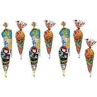 ALMACENESADAN 9958, Pack 10 Conos con chuches Ideal para Fiestas y cumpleaños, Contiene: