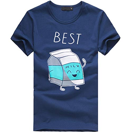 IMJONO heißer 2019 Frauen Mädchen Plus Size Print Tees Shirt Kurzarm T Shirt Bluse Tops(Medium,Marine)