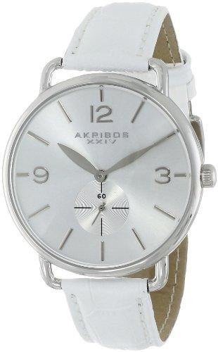 Akribos XXIV AK658SSW - Reloj de Pulsera Mujer, Color Blanco