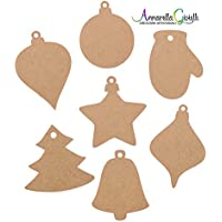 Cartellini carta kraft NATALE, regali, bomboniere, avana, tag, stella, albero, campana, palla, guanti