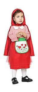 Atosa-24412 roja Disfraz Caperucita, Color Rojo, 12 a 24 Meses (24412