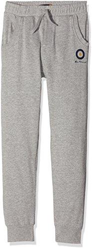 ben-sherman-cuffed-jogger-pantalones-de-deporte-para-ninas-gris-grey-marl-10-11-anos-talla-del-fabri