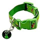 Junyee Verstellbare Hundehalsbänder, Weihnachten-Weihnachtsdekoration-Halsband für Katze-Welpen-Kätzchen (Grün , L ,