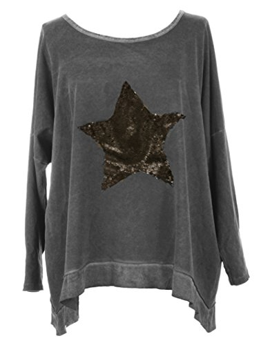 Unknown -  Maglia a manica lunga  - Basic - Donna Dark Grey