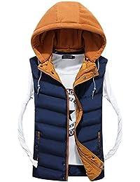 Battercake Chaleco De Invierno Cálido para Camisa De Hombre La Chaqueta Cómodo De Moda Chaleco De