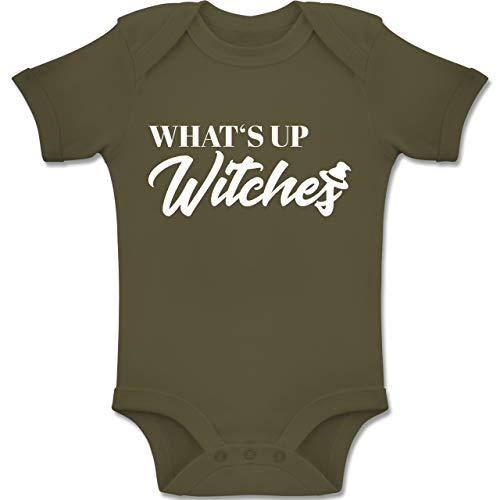 Shirtracer Anlässe Baby - Whats up Witches - 3-6 Monate - Olivgrün - BZ10 - Baby Body Kurzarm Jungen Mädchen