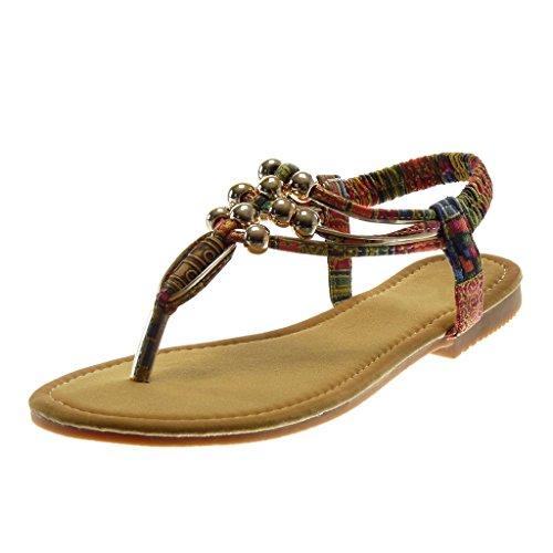 Perle Cm Rouge Slip Doré Salomés Talon Fantaisie Femme on Sandale Bloc  Chaussure Angkorly Lanière Mode ... d2db61e5d54c