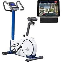 skandika Morpheus - Vélo d'appartement ergomètre - Bluetooth - Max.120 kg - 24 Programmes - 32 Niveaux de résistance - Masse d'inertie 12 Kg