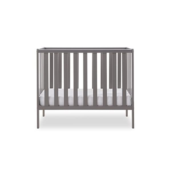 Obaby Bantam Space Saver Cot - Taupe Grey Obaby Adjustable, 3 position base height Beautiful slatted ends and sides help you keep an eye on your little one Teething rails ensure delicate teeth are protected 4