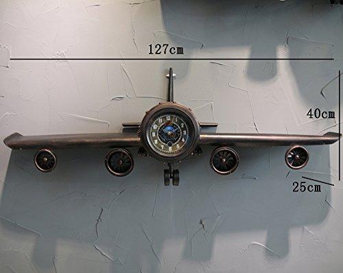 Kinderzimmer Regal Schwimmende (Flashing- Amerikanische Retro-Flugzeug-Form Eisen Wandmontierte Wanduhr, Kreative Schwimmende Regal Wanddekoration ( Farbe : Bronze , größe : 127*25*40cm ))
