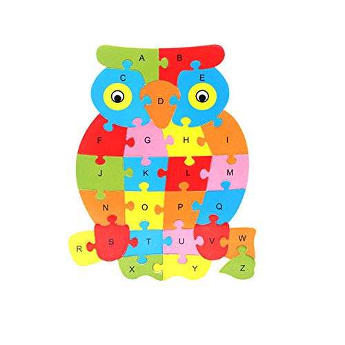 Coupon Matrix - Singular-Point Baby Toddler Educational Intelligence Development Animal Number Cognize Wooden Colorful Brick Puzzle CM© toy (Sale!) (A)