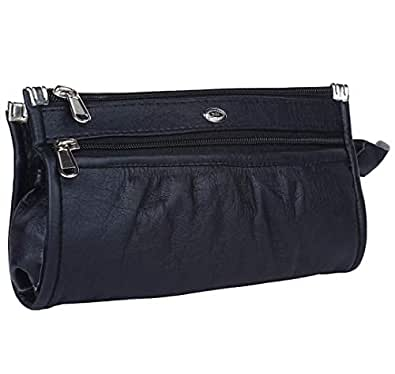 Talat Fashion PU Leather Stylish Wallet/Clutch/Purse for Women & Girls (Black)