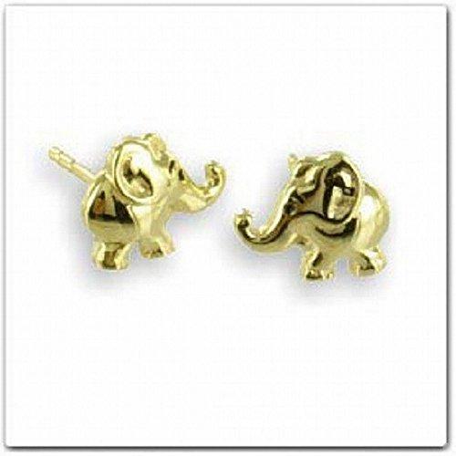 ASS{333} oro para mujer niños aretes pendientes Elefant,