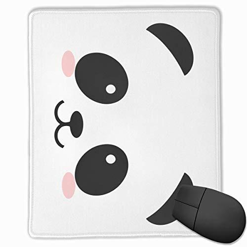 Nettes Karikatur-Panda-Gesichts-Rechteck-rutschfestes GummiMousepad Computerzubehör 18 x 22 cm