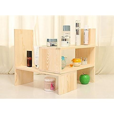 Creativo de escritorio estanteria simple tabla pequeña estanteria estanteria escritorio Desktop bastidores de almacenamiento ( Diseño : B )