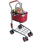 Hummelladen Tanner Kaufladen-Einkaufswagen mit Tragekorb 40 Marken-Packungen Kaufladenzubehör