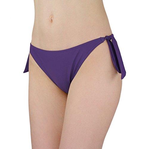 Aquarti Damen Bikinihose seitlich zum Binden Bikini Hüftslip Lila