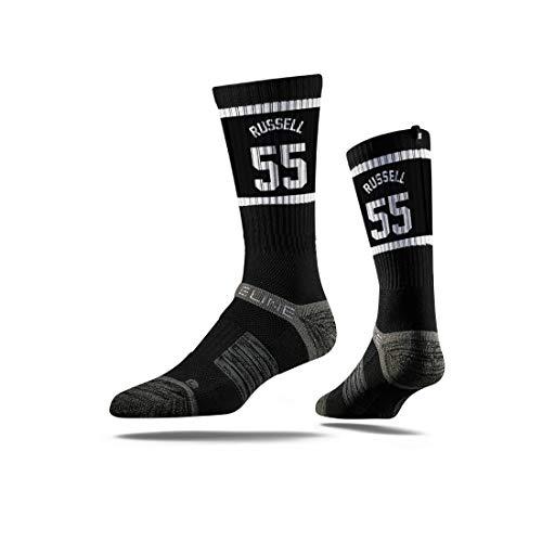 Strideline NBA Premium Athletic Crew Socks, Einheitsgröße, unisex - erwachsene, Jersey Premium Athletic Crew Socks, Deangelo Russel Jersey, Einheitsgröße - One Basketball-schuhe