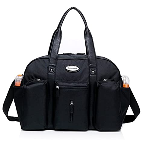 Colorland Jude Daddy Black Carryall Baby Changing Bag