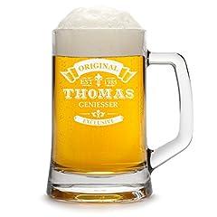Idea Regalo - Boccale di birra Personalizzato con incisione di un nome e di un anno - Boccale di birra Happy Birthday con - Motivo Original-Exklusive 0.5l