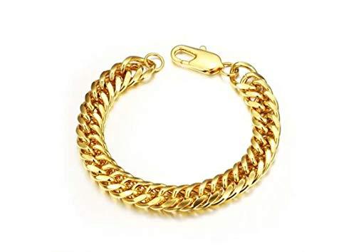 Beydodo Vergoldet Armband für Herren Schlange Gold Armband 22CM