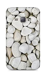 Amez designer printed 3d premium high quality back case cover for Samsung Galaxy J1 (2016 EDITION) (white stones)