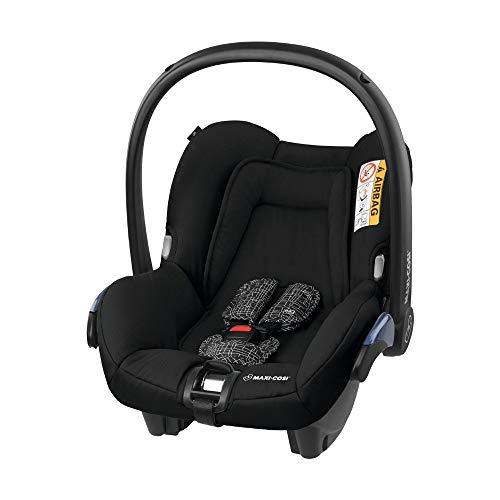 Maxi-Cosi Citi Babyschale, federleichter Gruppe 0+ Kindersitz (0-13 kg), nutzbar ab der Geburt bis 12 Monate, Black Grid