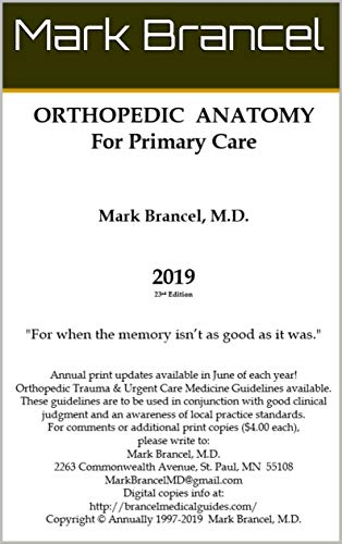 Orthopedic Anatomy For Primary Care (2019, 23rd Annual Edition, Version 1) (English Edition)