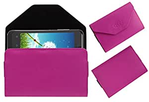 Acm Premium Pouch Case For Zte Blade C V807 Flip Flap Cover Holder Pink