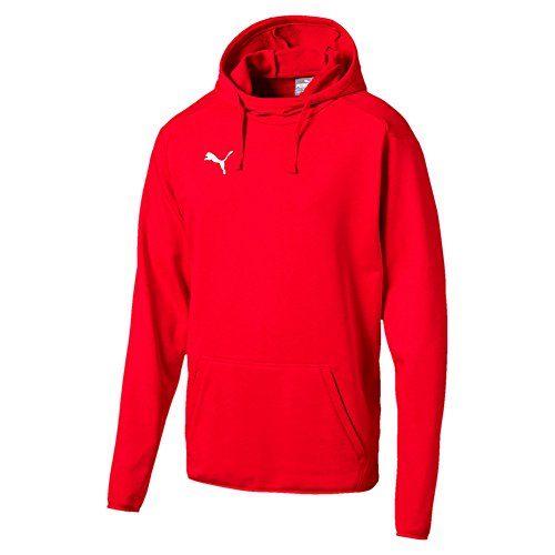 Puma Herren Liga Casuals Hoody Sweatshirt, grau(Medium Gray Heather Black), M