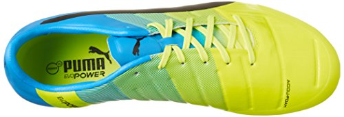 Puma Evopower 2.3 Ag, Chaussures de football homme Jaune - Gelb (safety yellow-black-atomic blue 01)