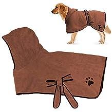 RCruning-EU Albornoz para Perros,Toallas para Perro, Secado rápido de Microfibra y