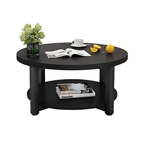 2 Tier Holz Couchtisch Kleine Wohnung Esstisch Bürotisch Wohnzimmer Beistelltisch Kleiner Runder Tisch Zwei Größen, B-T, b, 50×45cm