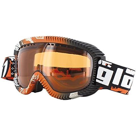 Gloryfy - Occhiali da sci GP2 Brandy, Arancione (Orange/White/Black), Standard