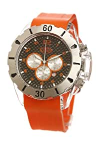 EX The Elite Watch with Black Dial and Orange Strap EX-25-G08
