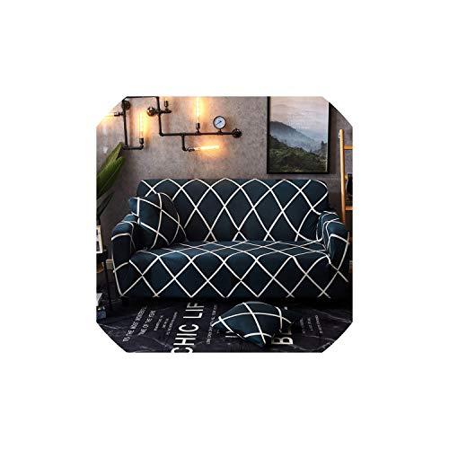 Sofabezüge für Wohnzimmer-Streifen Universal-Stretch Futon Deckel voll Couch Sofa Slipcover, Bisili, 4-Seater-Abdeckung -