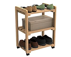 Forzza Anders Movable Rack,Oak