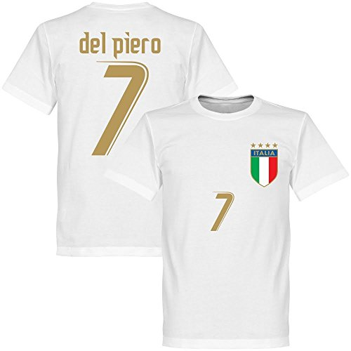 2006 Italien Del Piero T-shirt - weiss - XL