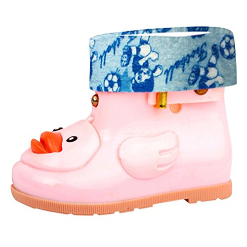 Baokee Baby Rain Boots for 12Month-7 Years Old Baby, Cartoon Duck Rubber Waterproof Warm Boots Rain Shoes