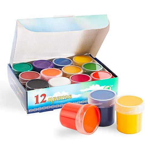 Bastel-Farbe Kinder - 12 x 20ml - Kinderfarben Abwaschbar