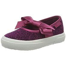 Superga 2257-jerseylurexj, Ballerines Bride Arriere Fille, Violet (Fuchsia Purple Multicolore V27), 31 EU
