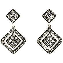 Esse Marcasite - Pendientes de plata con marcasita (.592)
