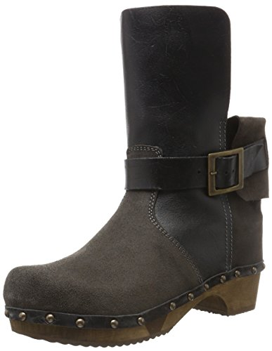 Sanita Nora Basic Flex Boot, Bottines non doublées femme Gris - Grau (Antracite 56)