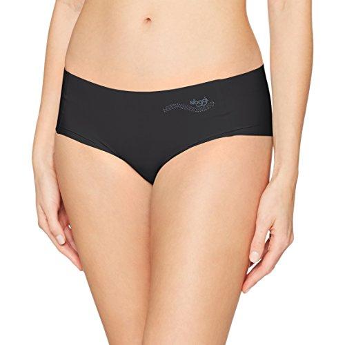 Sloggi Damen Slip Zero Feel Hipster Schwarz – Nahtlose Damen Unterwäsche aus stretchigem Material - für Besonders angenehmen Tragekomfort – Größe M 40-42