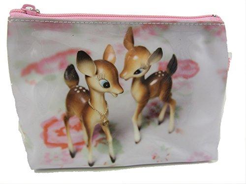 Bambi bébé Cerf Lavage de maquillage trousse de toilette sac par Catseye