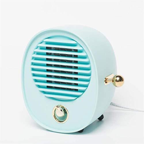 Yeying123 Ruhige Mini-Feinheizung 2 Second Speed Heat Portable Electric Indoor Heater Low Decibel Mit Überwärmeschutz Für Home/Office/Bedroom.500W,Blue (Portable öl Gefüllt Heizung)